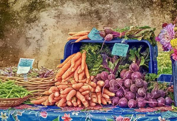 Purple Carrot Photograph - Farmers Market Organic Produce by Constantine Gregory
