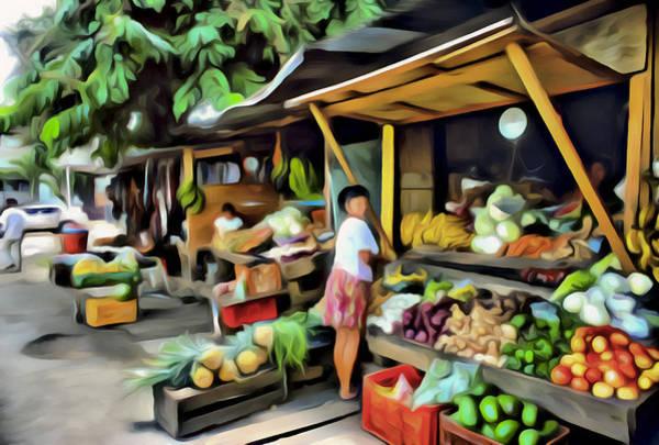 Digital Art - Farmers Market by Patrick M Lynch