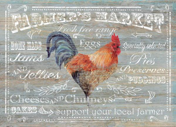 Farmhouse Kitchen Painting - Farmer's Market by P.s. Art Studios