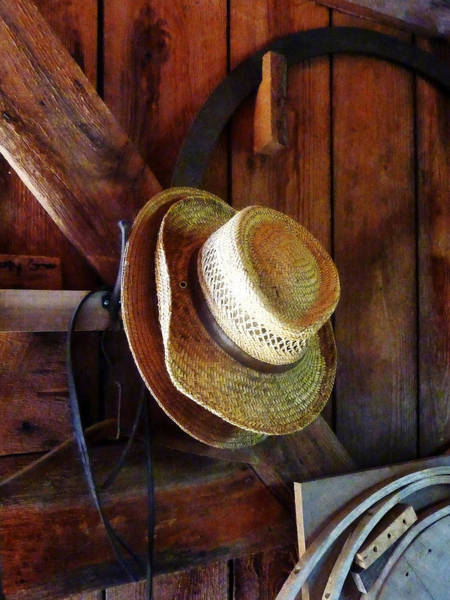 Photograph - Farmer's Straw Hats by Susan Savad