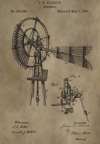 Wind Vane Digital Art - Farmer's Windmill by Dan Sproul