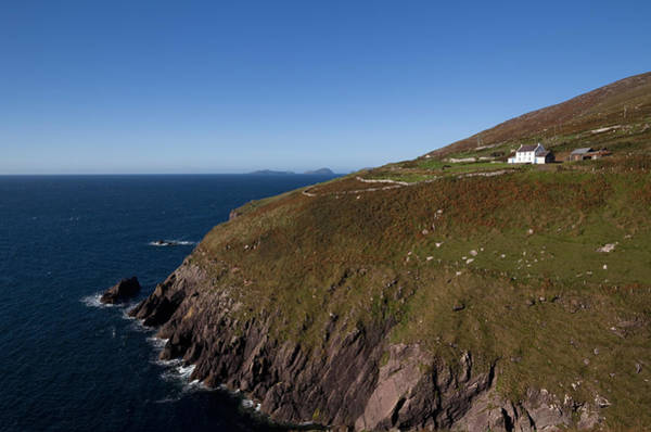 Dingle Peninsula Photograph - Farmhouse And Distant Blasket Islands by Panoramic Images