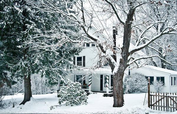 Wall Art - Photograph - Farmhouse In Snow by Nickaleen Neff