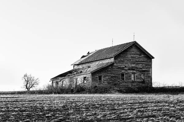 Photograph - farmhouse in spring - Old Barns by Gary Heller