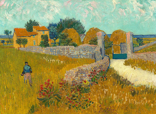 Hamlet Painting - Farmhouse In The Provence by Vincent van Gogh