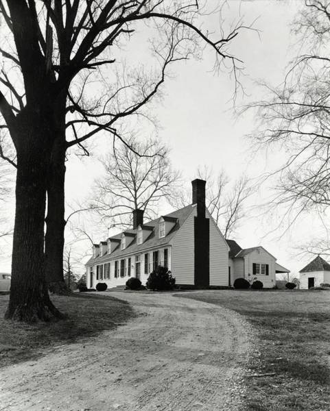 Driveway Photograph - Farmhouse On Belle Air Plantation by Ralph Bailey