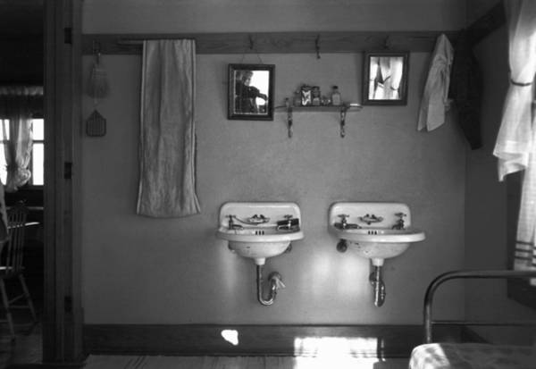 Photograph - Farmhouse Washroom, 1936 by Granger
