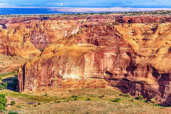 Photograph - Farming In Canyon De Chelly by Bob and Nadine Johnston