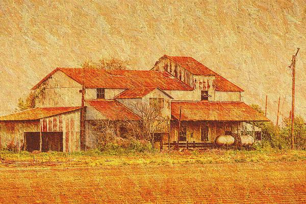 Photograph - Farm - Barn - Farming The Delta by Barry Jones
