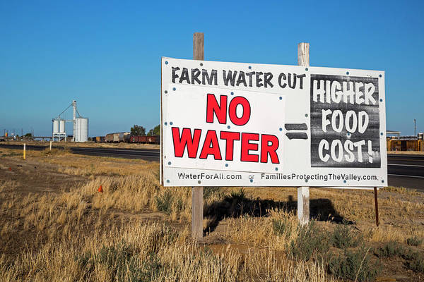 San Joaquin Valley Photograph - Farming Water Shortage Protest by Jim West/science Photo Library