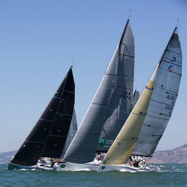 Photograph - Farr 36 San Francisco Start by Steven Lapkin