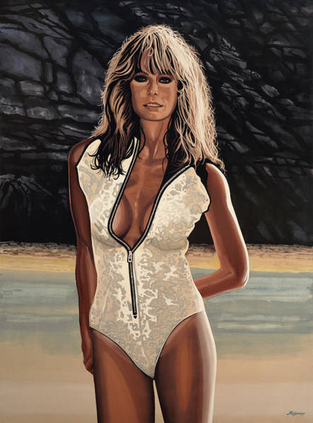 Late Wall Art - Painting - Farrah Fawcett Painting by Paul Meijering