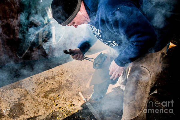Photograph - Farrier2 by Jim DeLillo