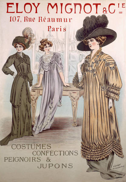Old Style Drawing - Fashion Advert For Eloy Mignot by French School