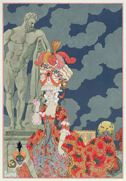 Model Trains Painting - Fashion At Its Highest by Georges Barbier