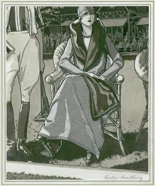 Necklace Digital Art - Fashion Illustration Of A Woman by Leslie Saalburg