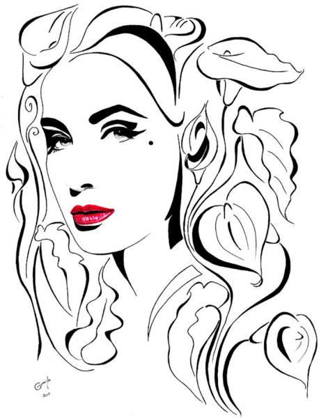 Calla Mixed Media - Fashion Inspired #2 by Gracja Waniewska
