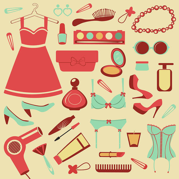 Perfume Photograph - Fashion Items Set by Olillia