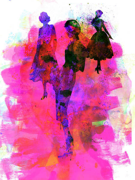 Wall Art - Painting - Fashion Models 1 by Naxart Studio