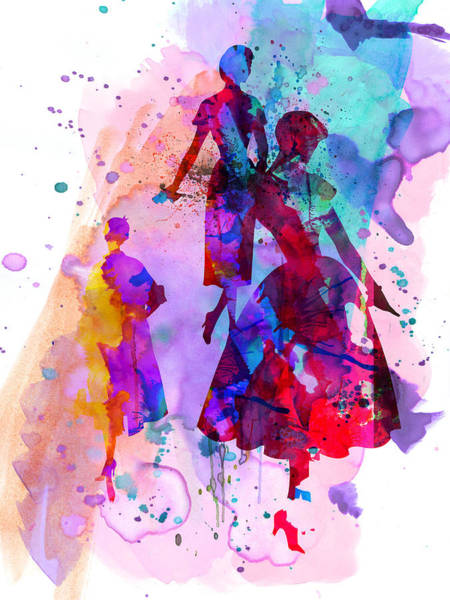 Wall Art - Painting - Fashion Models 6 by Naxart Studio