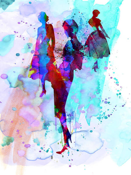 Wall Art - Painting - Fashion Models 7 by Naxart Studio