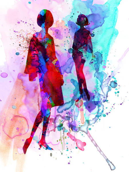 Wall Art - Painting - Fashion Models 8 by Naxart Studio