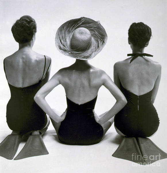 Wall Art - Photograph - Fashion Models In Swim Suits, 1950 by Science Source