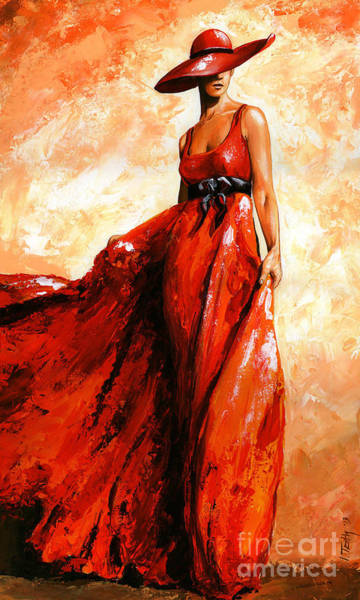 Wall Art - Painting - Fashion Red by Emerico Imre Toth