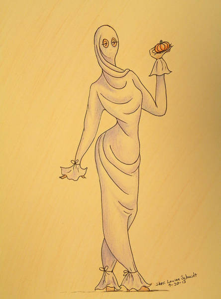 Trick Or Treat Drawing - Fashion Victim by Sheri Lauren