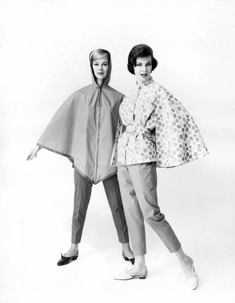 Wall Art - Photograph - Fashionable Rainwear by Underwood Archives