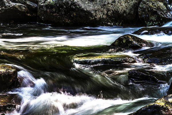 Photograph - Flowing Water - Mountain Stream - Fast And Furious by Barry Jones