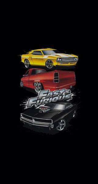 Vin Wall Art - Digital Art - Fast And The Furious - Muscle Car Splatter by Brand A