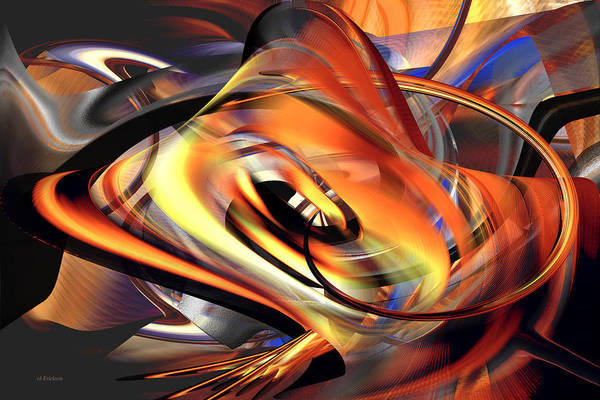 Digital Art - Fast Fire - Abstract by rd Erickson