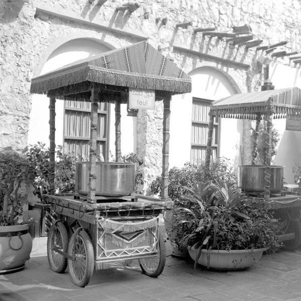 Photograph - Fast Food Carts In An Arab Souq by Paul Cowan