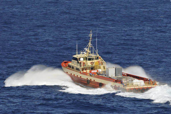 Photograph - Fast Supply Vessel Underway by Bradford Martin