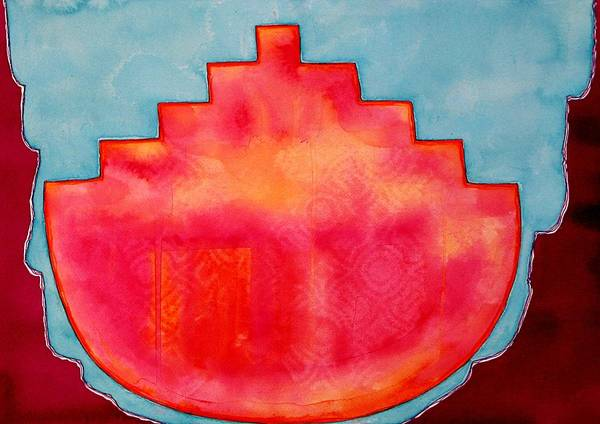 Flagstaff Painting - Fat Sunrise Original Painting by Sol Luckman