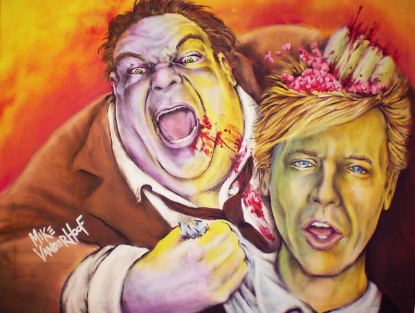 Chris Farley Painting - Fat Zombie In A Little Coat By Mike Vanderhoof / Kingmikev.com by Mike Vanderhoof