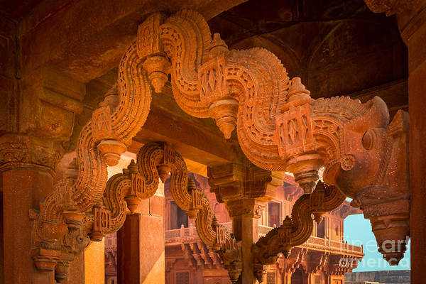 Photograph - Fatehpur Sikri Detail by Inge Johnsson
