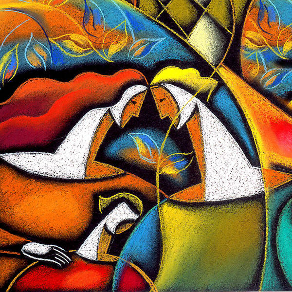 Wall Art - Painting - Father And Mother by Leon Zernitsky