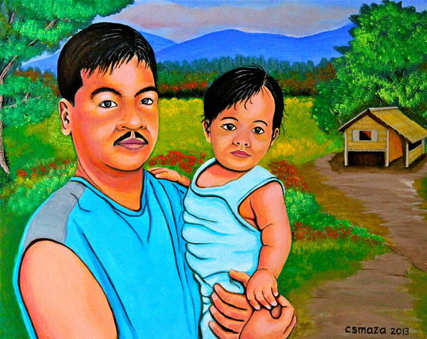 Painting - Father And Son by Cyril Maza