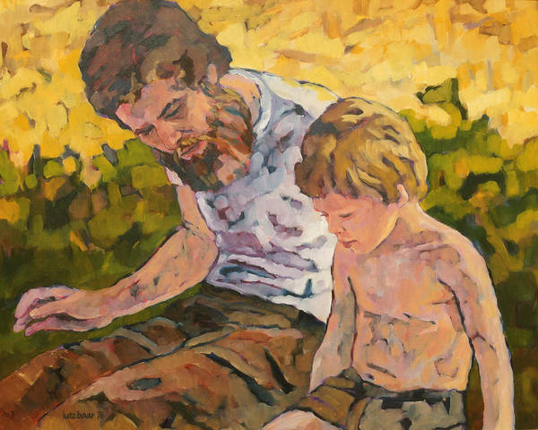 Painting - Father And Son by Lutz Baar