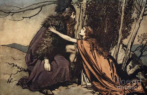 Goddess Drawing - Father Father Tell Me What Ails Thee With Dismay Thou Art Filling Thy Child by Arthur Rackham