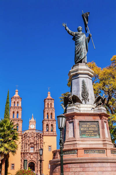 Wall Art - Photograph - Father Miguel Hidalgo Statue, Parroquia by William Perry
