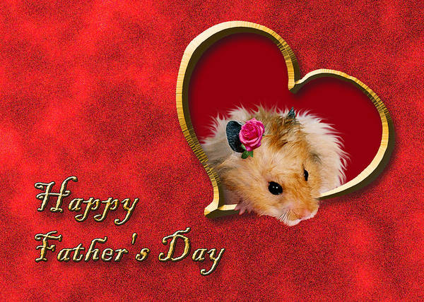 Golden Hamster Photograph - Father's Day Hamster by Jeanette K