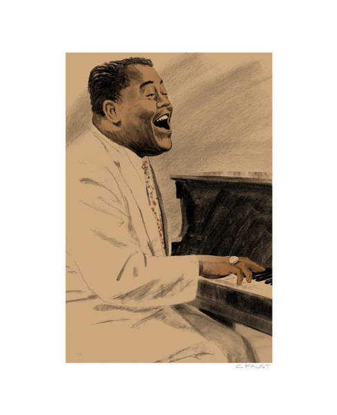 Drawing - Fats Domino by Clifford Faust