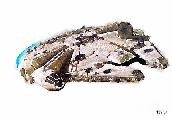 Painting - Millenium Falcon by Helge