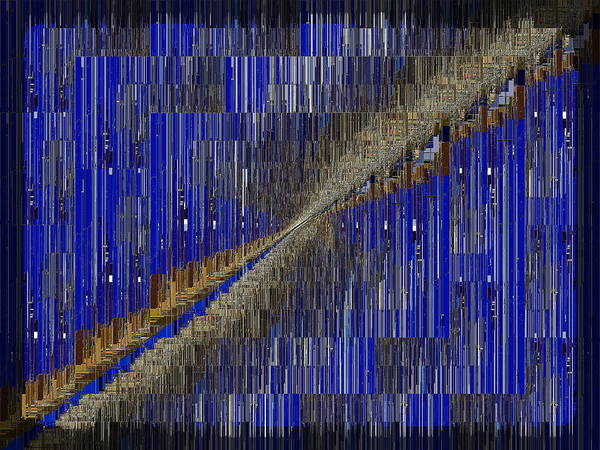 Diagonal Digital Art - Fault Line Blues by Tim Allen