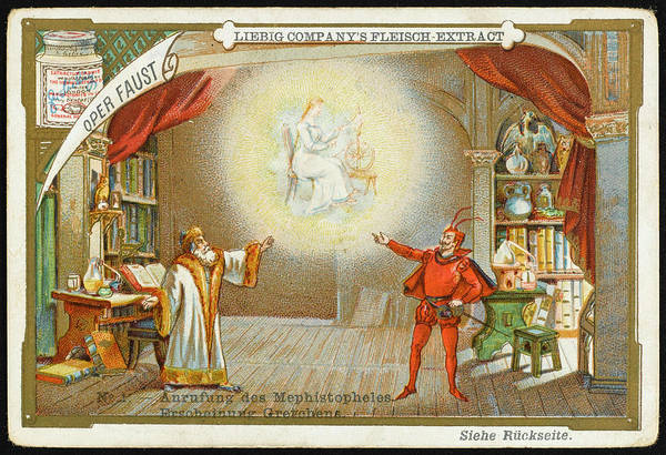 Liebig Wall Art - Drawing - 'faust' Mephistopheles, Summoned by Mary Evans Picture Library