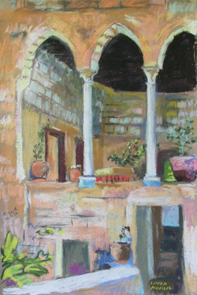 Painting - Fauzi Azar Mansion by Linda Novick