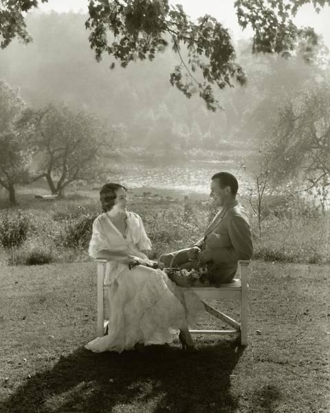Husband Photograph - Fay Wray And John Monk Sanders Sitting by Edward Steichen
